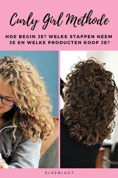 Hoe begin je met de Curly Girl Methode? Wavy Bob Haircuts, Bob Haircut With Bangs, Curly Hair With Bangs, Short Wavy Hair, Permed Hairstyles, Hairstyles With Bangs, Curly Hair Styles, Curly Girls, Curly Girl Method