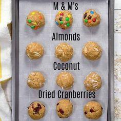 No Bake Monster Cookie Oatmeal Energy Balls - Princess Pinky Girl