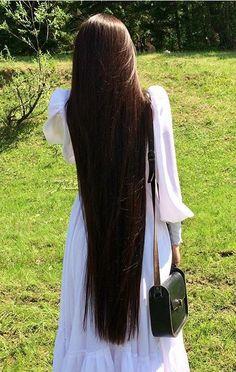 I love silky hair long and short Long Dark Hair, Grow Long Hair, Grow Hair, Really Long Hair, Super Long Hair, Beautiful Long Hair, Gorgeous Hair, Rapunzel Hair, Silky Hair
