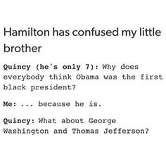 Hamilton has confused this 7 year old.