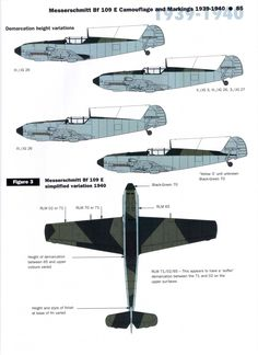 Luftwaffe Bf 109 camouflage markings and paint schemes Ww2 Aircraft, Fighter Aircraft, Military Aircraft, Fighter Jets, Luftwaffe, Camouflage, Heroes And Generals, Ww2 Planes, Battle Of Britain