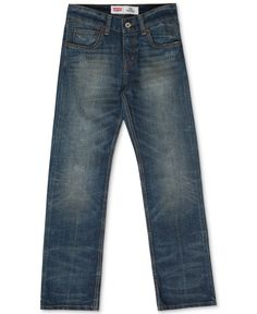 Levi's Boys' Husky Fit 514 Straight Jeans