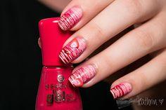 RainPow Nails: Candy ~ Strawberry Sugar Spun Nails