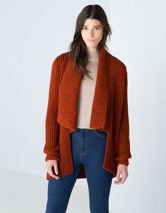 Bershka knit jacket with lapels - Sweaters & Cardigans - Bershka United Kingdom