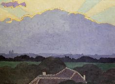 Cloud at Romanel by Felix Vallotton Size: 35x46 cm Medium: oil on cardboard