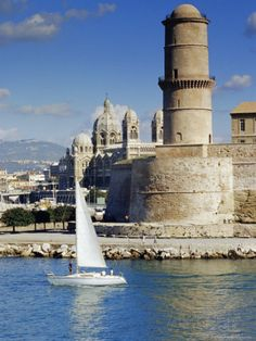 Fort Saint-Jean is a fortification in Marseille, France built in 1660 by Louis XlV at the entrance to the Old Port.  Since 2013 it is linked by two thin bridges to the historical district Le panier and to the first French national museum to be located outside Paris.