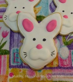 Easter Bunny Cookies Fun decorated sugar cookies for Easter