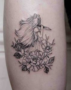 Stunning Princess Mononoke tattoos done by some of the best tattoo artists from around the world. Movie Tattoos, Anime Tattoos, Body Art Tattoos, Sleeve Tattoos, Cool Tattoos, Geisha Tattoos, Dragon Tattoos, Tatuaje Studio Ghibli, Studio Ghibli Tattoo