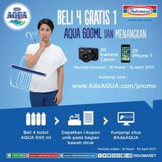 Promo Aqua Indomaret Berhadiah 25 iPhone 7 dan 30 Kamera Canon