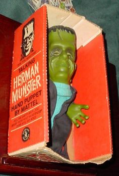 Talking Herman Munster Hand Puppet by Mattel Frankenstein's Monster, Monster Mash, Dr Frankenstein, Herman Munster, Vintage Video Games, The Munsters, Retro Halloween, Classic Monsters, Hand Puppets