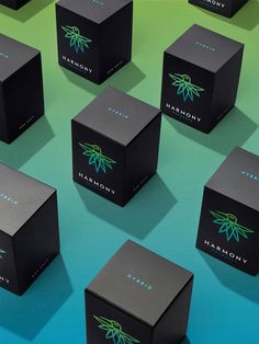 Harmony Extracts packaging | Design Firm: Pentagram