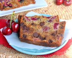 My new favorite banana bread - Chocolate Cherry Banana Bread! Exceptionally moist and tender, you won't be able to stop at just one slice! Chocolate Banana Bread, Semi Sweet Chocolate Chips, Chocolate Cherry, Chocolate Recipes, Cherry Bread, Fruit Bread, Banana Bread Ingredients, Banana Bread Recipes, Bread Cake
