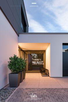 Studio Living, Home Studio, Medical Office Design, Entrance Design, Modern House Design, Interior Inspiration, Home Remodeling, Facade, House Plans