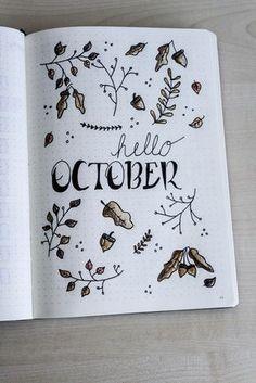 Plan with me – Oktober 2017 (Bullet Journal)