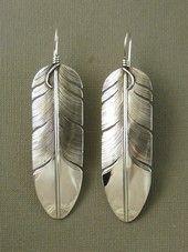 Silver Earrings - No Stones - Navajo Silver Earrings, Native American Silver Earrings | Southwest Silver Gallery