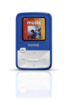 SanDisk Sansa Clip Zip 4GB Blue MP3 Player SDMX22-004G-E46B,Blue
