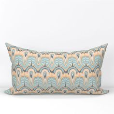 55% linen, 45% natural cotton fabric with a versatile medium weight and textured feel. Insert sold separately. Design printed on the front and back. #Pillow #Textile #Fabric #Home #linens #LumbarThrowPillow Lumbar Throw Pillow, Throw Pillow Covers, Throw Pillows, Cotton Canvas, Cotton Fabric, Turquoise Background, Pillow Cover Design, Tea Towels, Linens