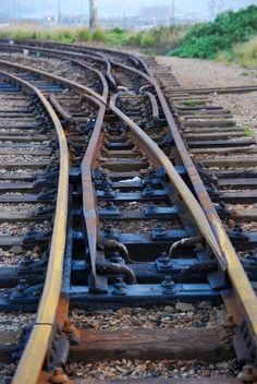 Narrow gauge tracks in Humerail, Port Elizabeth, South Africa.