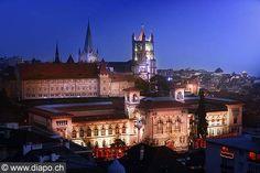 Palais de Rumine et la Cathédrale - city of Lausanne - Switzerland