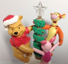 Mr Christmas Pooh Animated Tree Topper Tigger Piglet Tabletop Decor Tested 1997