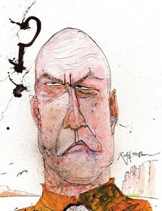 Hank Schrader | Breaking Bad Blu-ray covers, as illustrated by Ralph Steadman