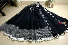 Cotton Pom pom lace sarees | Buy Online pom pom sarees | Elegant Fashion Wear