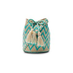 Guanabana Tribal Medium Bucket Bag (4.090 RUB) ❤ liked on Polyvore featuring bags, handbags, shoulder bags, tassel purse, woven handbags, shoulder strap handbags, tribal purse and tassel handbag