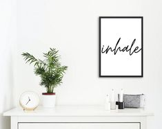 Inhale exhale A4 Poster / Poster for yogis / gift for | Etsy Poster Poster, Poster Wall, Create Your Own Poster, Black And White Posters, Inhale Exhale, Minimalist, Gifts, Etsy, Home Decor