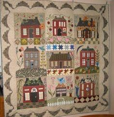 Houses.  Blackbird Designs - One stitch at a time