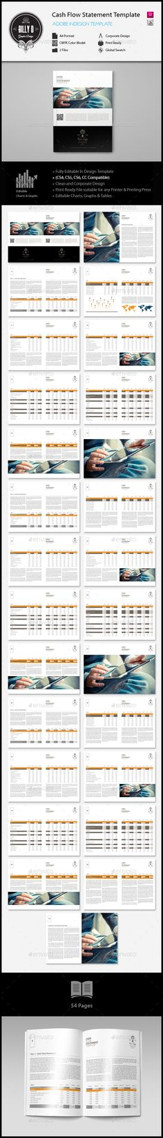 Cash Flow Statement Digital Template u2013 Keboto Templates - cash flow statement template