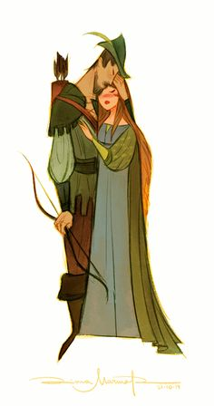 Robin Hood and Lady Marian by DianaMaRble on deviantART