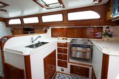 "MORRIS M52 Galley is truly a ""Cook's Kitchen"", and is where the gourmet meals…"