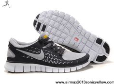Buy Discount 395912-016 Grey Black White Nike Free Run Mens For Sale
