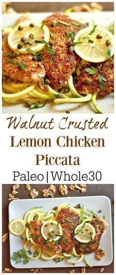 Paleo Walnut Crusted Lemon Chicken Piccata Recipe