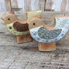 Mid century ceramic bird salt and pepper shakers
