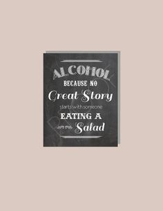 8x10 Instant Download  Funny  Alcohol Becuase by BordenSpecifics, $5.00