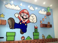 Fantástico mural 3D de Super Mario Bros