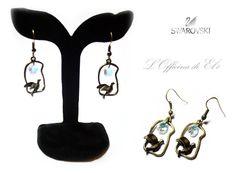 birds and earrings with Swarovski    orecchini con uccelli e swarovsky