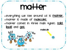 Print these cute and easy to see posters for your solids, liquids, and gases unit!