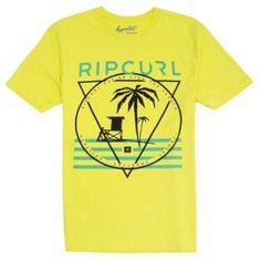 Camiseta Rip Curl Men's 56th Street Custom T-Shirt Lime #Camiseta #Rip Curl