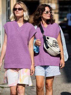 We Predict This Unlikely Knit Will Be Autumn's Biggest Jumper Trend Copenhagen Style, Copenhagen Fashion Week, Knit Vest, Sweater Vests, Jumper, I Love Fashion, Autumn Fashion, Long Sleeve Midi Dress, Girls Sweaters