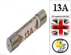 5 x 13 Amp DOMESTIC HOUSEHOLD FUSE PLUG MAINS CARTRIDGE FUSE BRITISH STANDARD