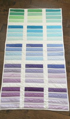 Paint Chip Quilt designed and quilted by Stephanie Palmer of Late Night Quilter