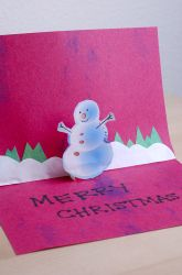 Second Grade Christmas Activities: Pop-up Holiday Cards