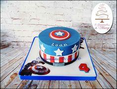 Mister America, marvel#Gourmandises de Mary Marvel Cake, Birthday Cake, Desserts, Food, Sweet Treats, Tailgate Desserts, Deserts, Birthday Cakes, Essen