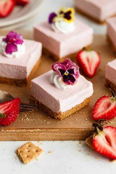No Bake Recipes for Strawberry Cheesecake | Grandbaby Cakes
