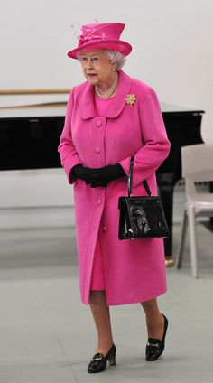 Queen Elizabeth II visits the Rambert dance company on March 2014 in London, England. The Queen and Duke of Edinburgh toured the new purpose-built facility housing Rambert, Britain's national dance company, meeting architects and staff before watching a Hm The Queen, Royal Queen, Save The Queen, Queen And Prince Phillip, Prince Philip, Isabel Ii, Royal Engagement, Elisabeth, Princess Margaret