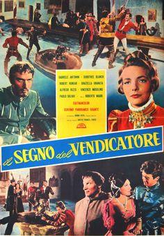 soggettone originale IL SEGNO DEL VENDICATORE Gabriele Antonini 1962 like ZORRO