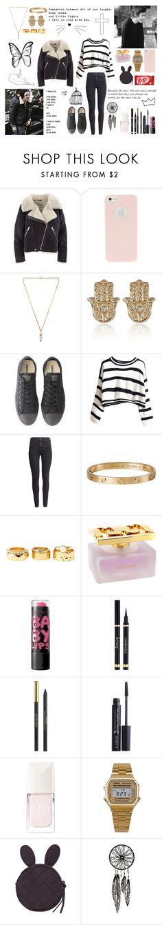"""Because the ones who are crazy enough to think that they can change the world, are the ones who do"" by lu-fonsecaa ❤ liked on Polyvore featuring Acne Studios, Isabel Marant, River Island, Converse, H&M, Cartier, Charlotte Russe, ESCADA, Yves Saint Laurent and CARGO"