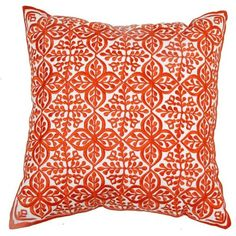 Moroccan Prestige Orange Moorish Pillow By ($135) ❤ liked on Polyvore featuring home, home decor, throw pillows, patterned throw pillows, orange accent pillows, orange home accessories, orange home decor and tangerine throw pillows
